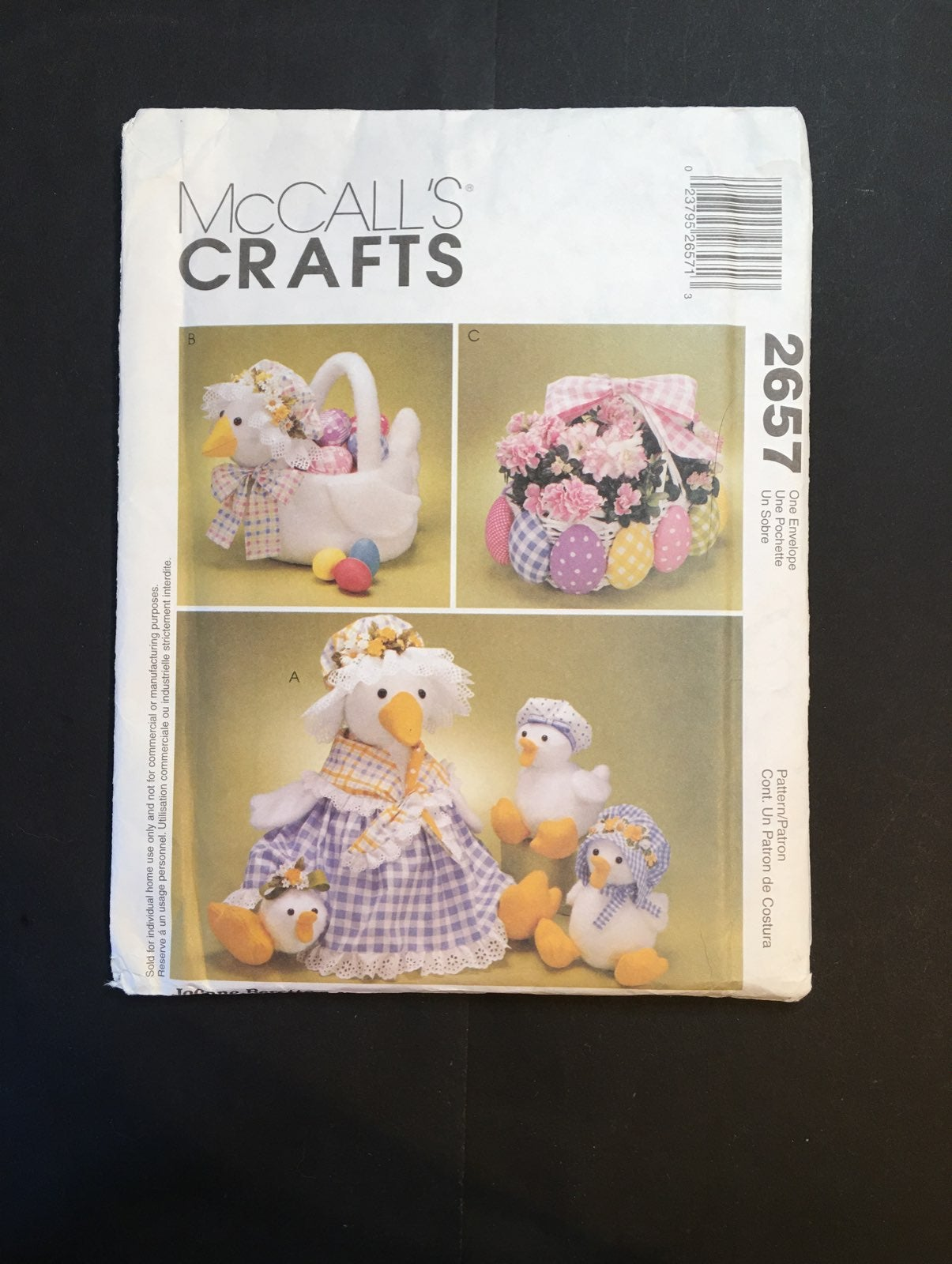 McCall's Patterns for Duck & Egg Baskets