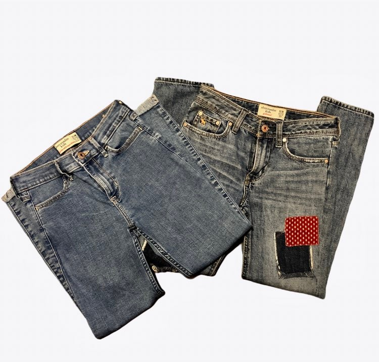 Bundle 2  Girls abercrombie 11/12 jeans