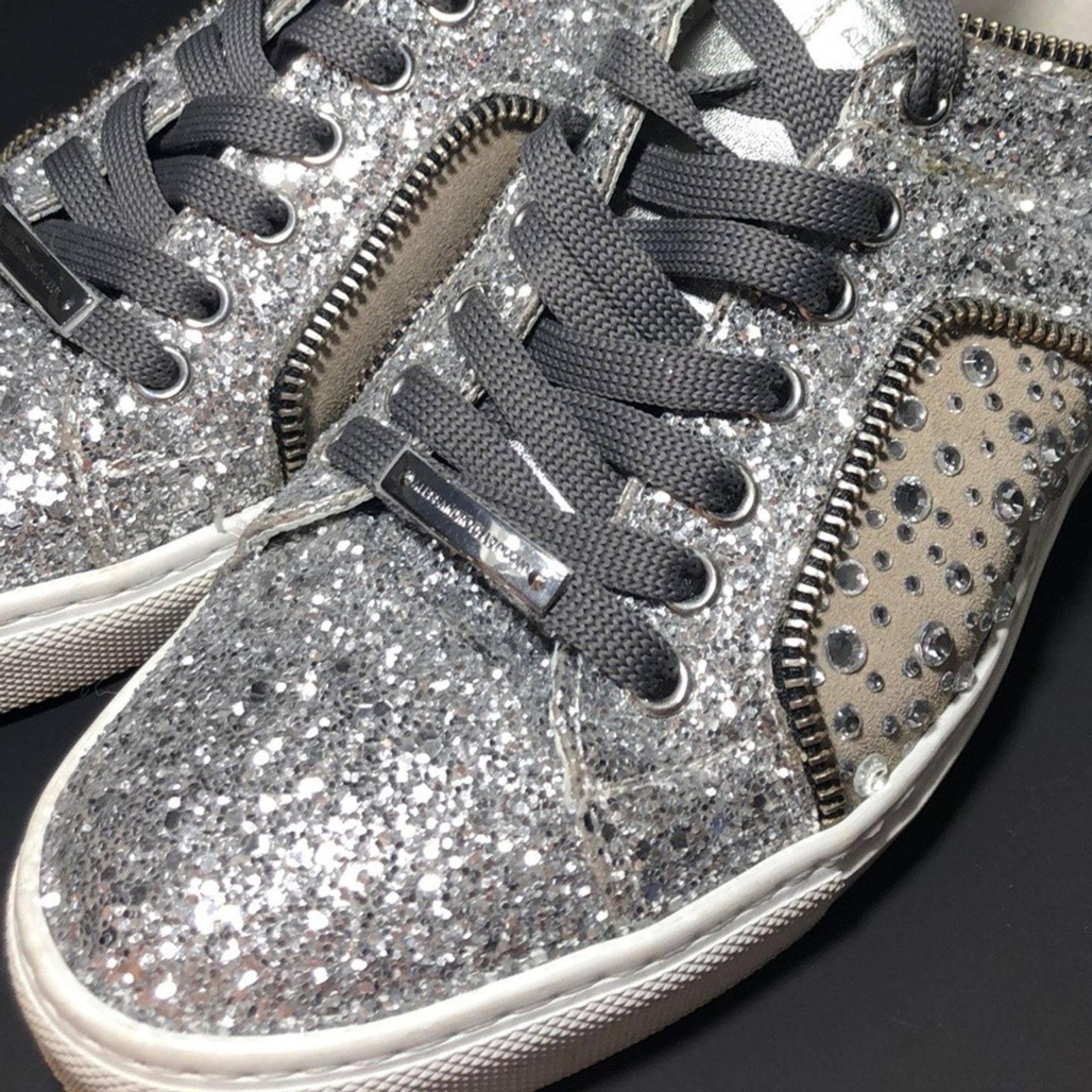 ALESSANDRO DELL'ACQUA Glitter Sneakers