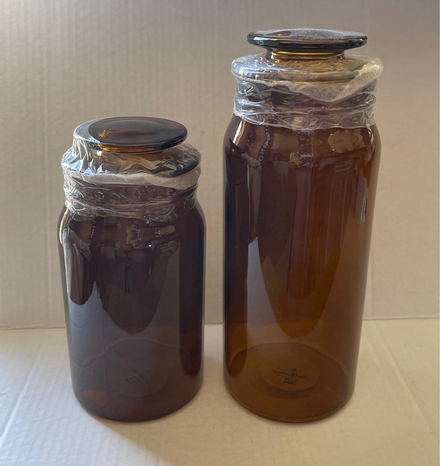 hearth and hand with Magnolia amber jars