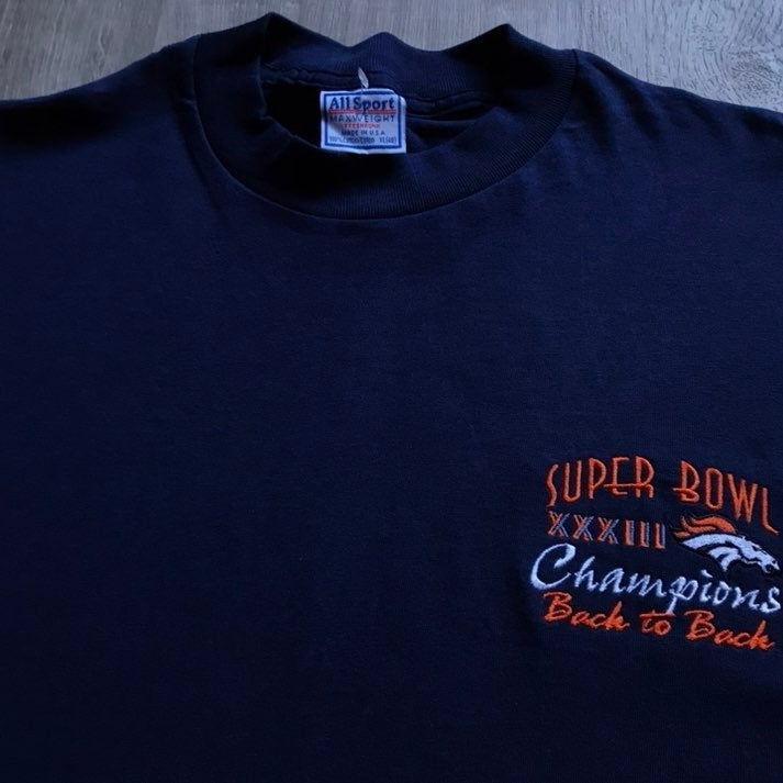 VTG 90's Broncos Embroidered XL Tee