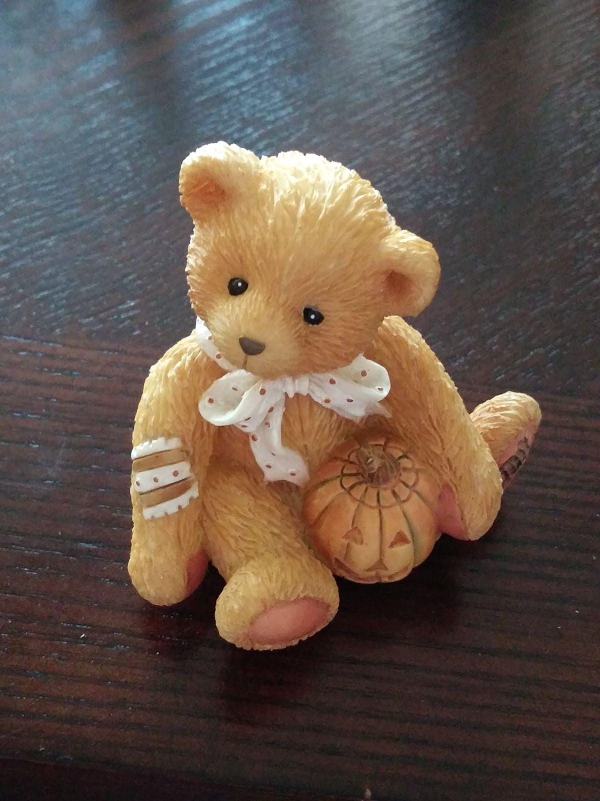 """Cherished Teddy Figurine - """"Oscar"""" Octob"""