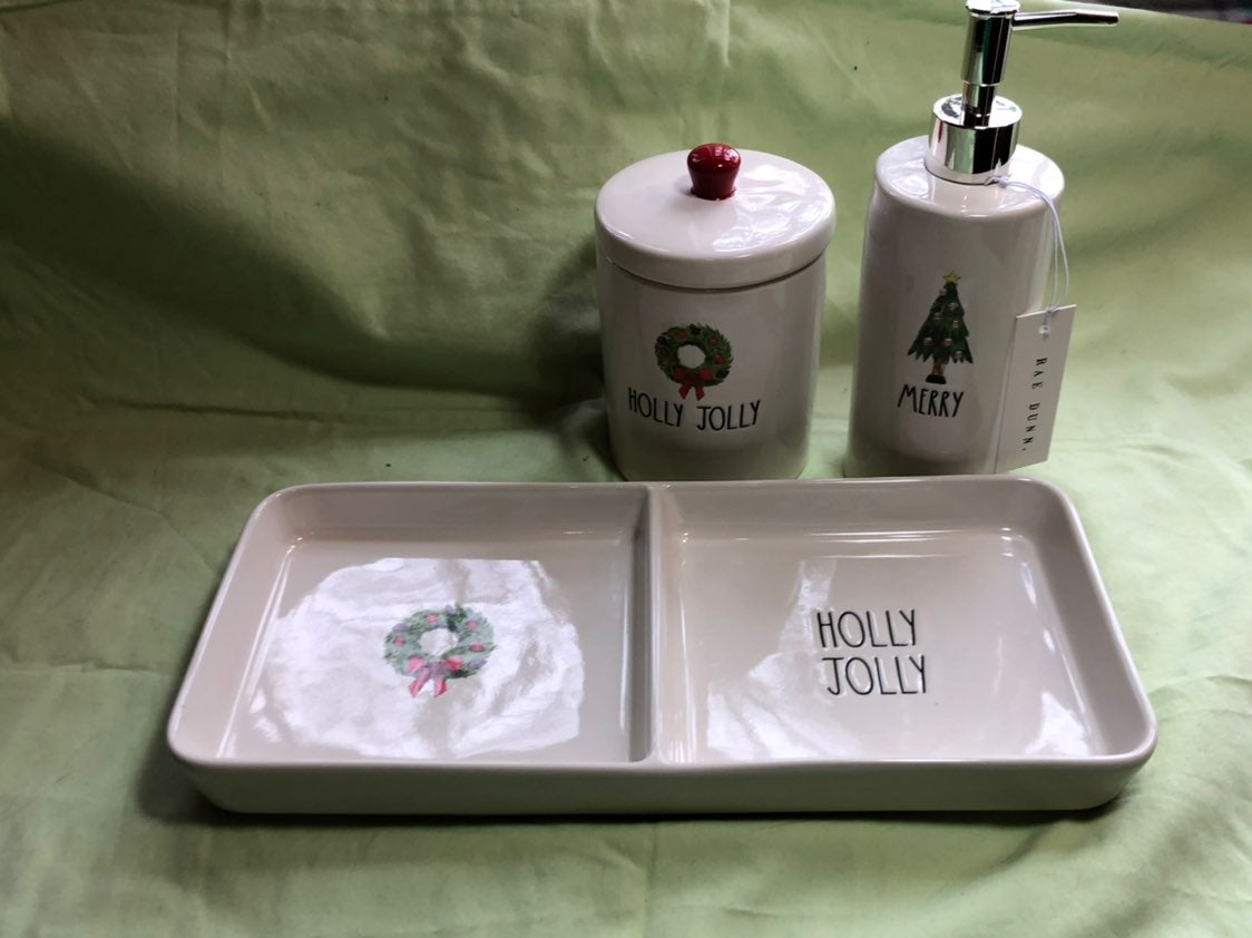 Raw Dunn Christmas Vanity Set