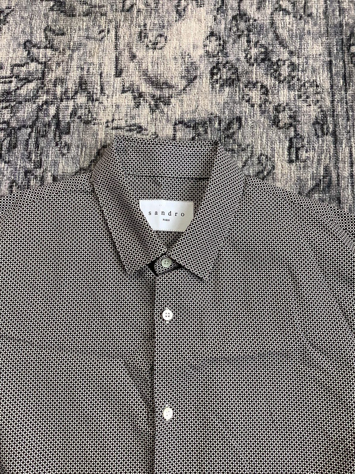Sandro Paris Geometric Button Down Shirt