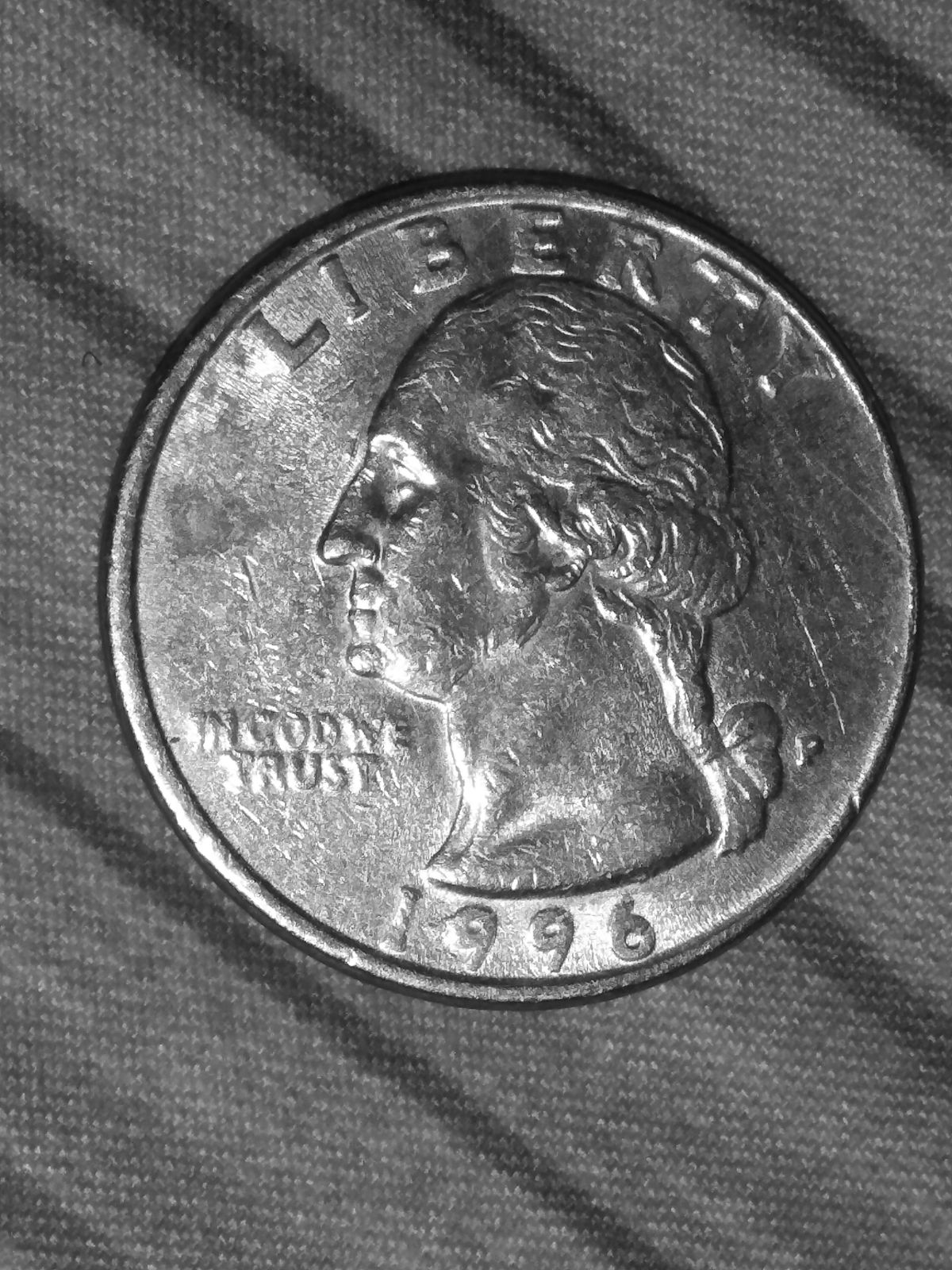 Error Coin 1996 P Missing Earlobe