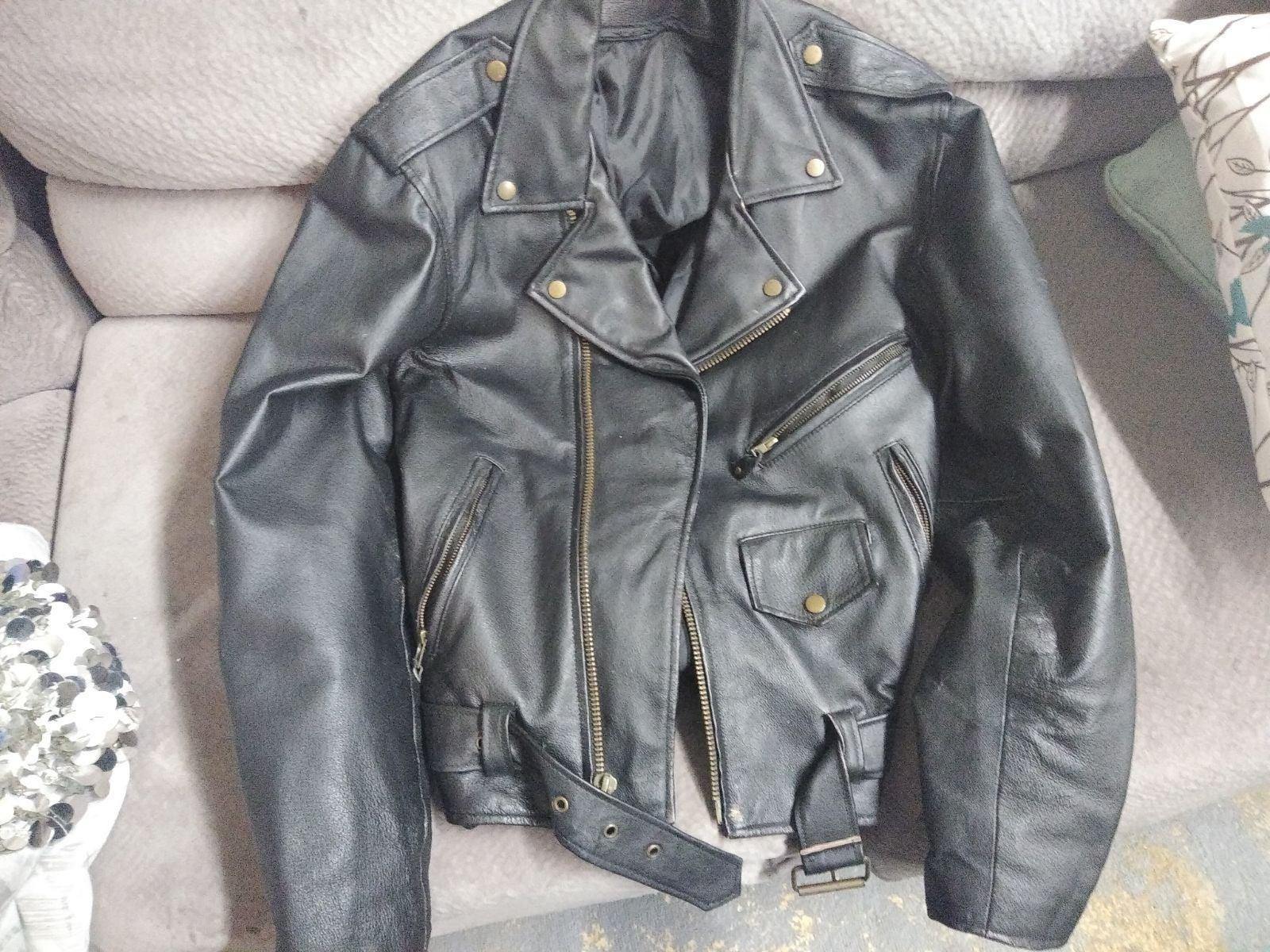Black Leather Jacket Riding Jacket