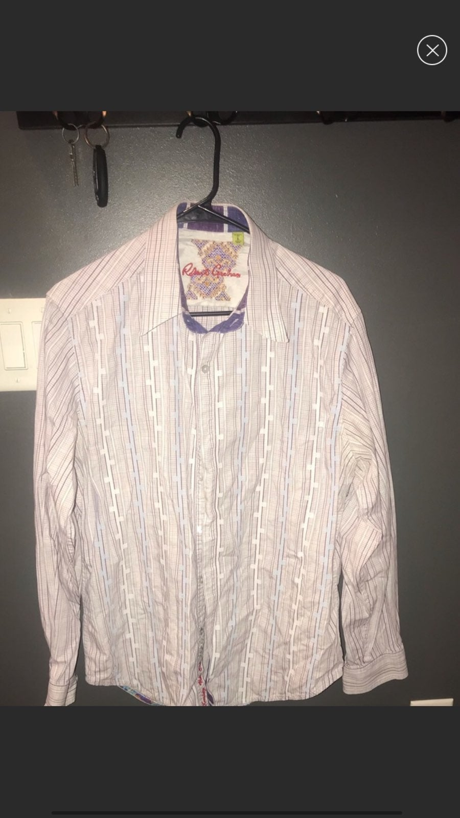 Mens robert graham shirt large