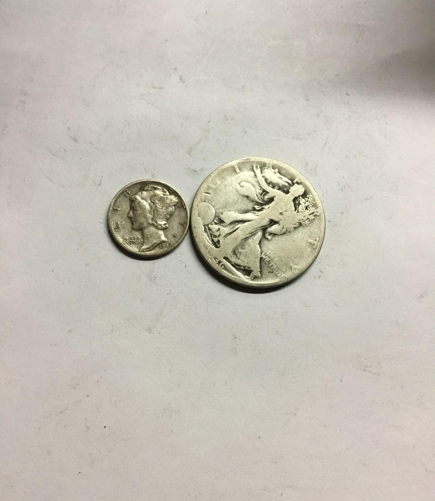 1/2 regular ounce 90% silver