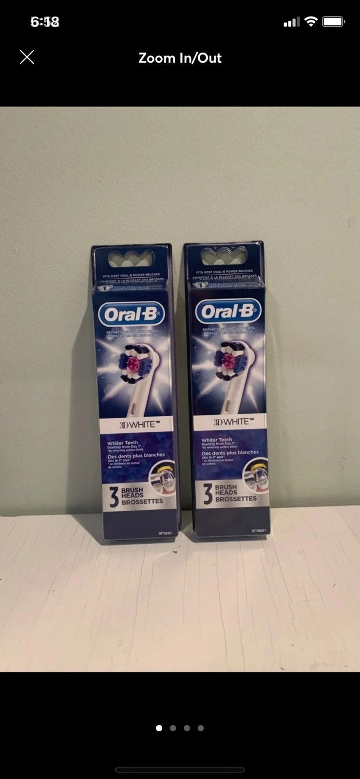 Oral-B 3D white replacement brush heads