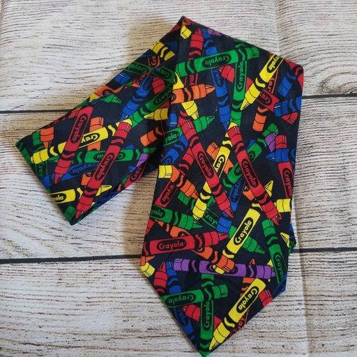 CRAYOLA vintage colorful men's necktie