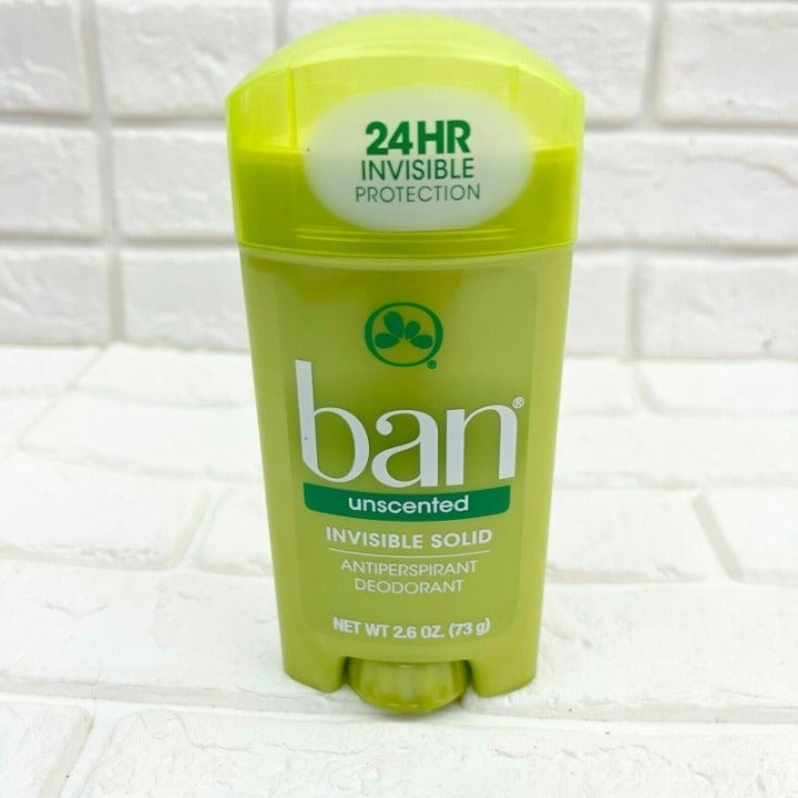 Ban Unscented Invisible Deodorant