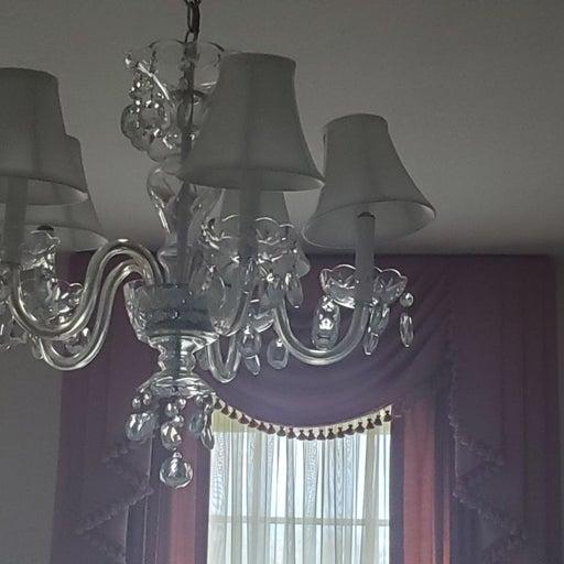 All crystal chandelier light