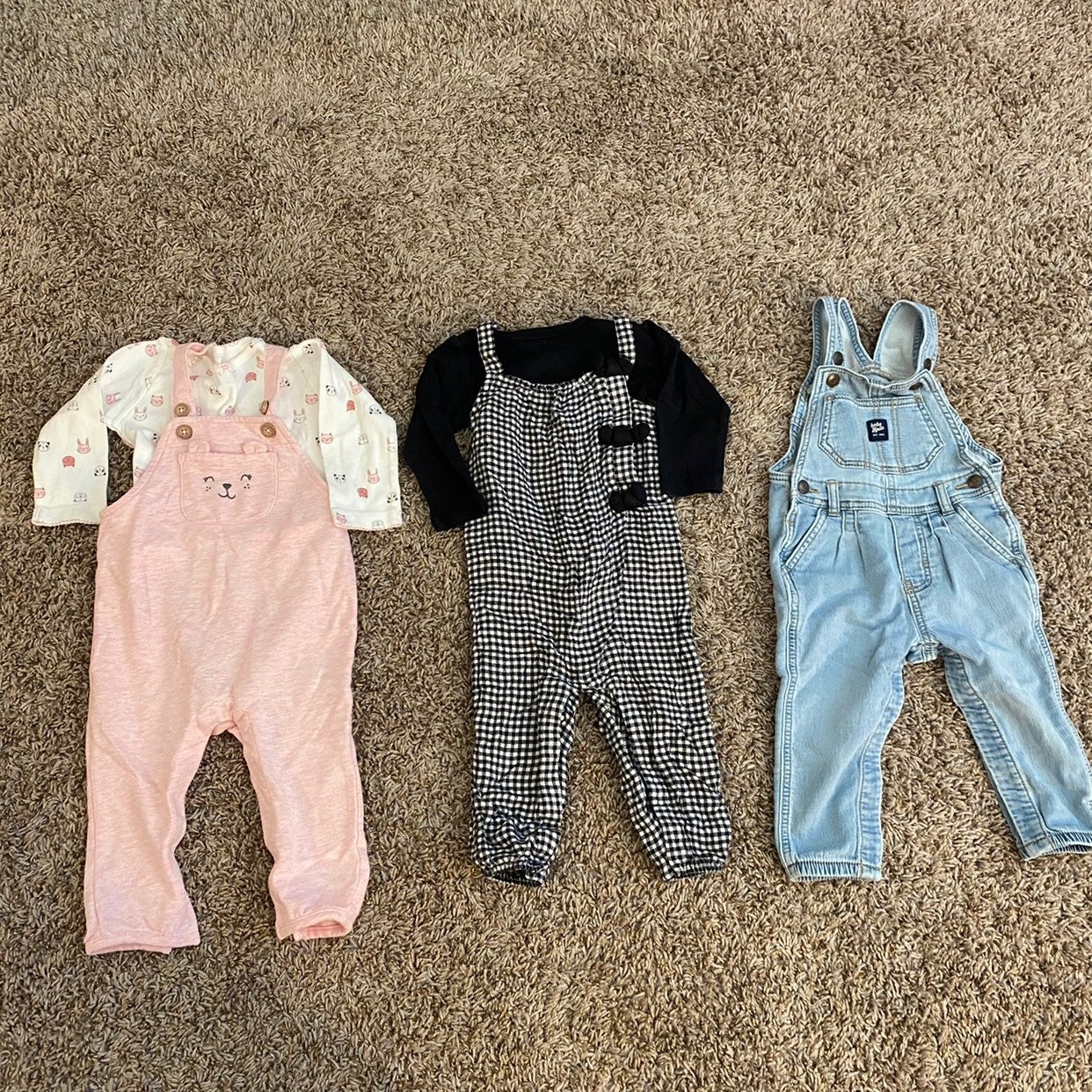 Baby girl 12 month overalls