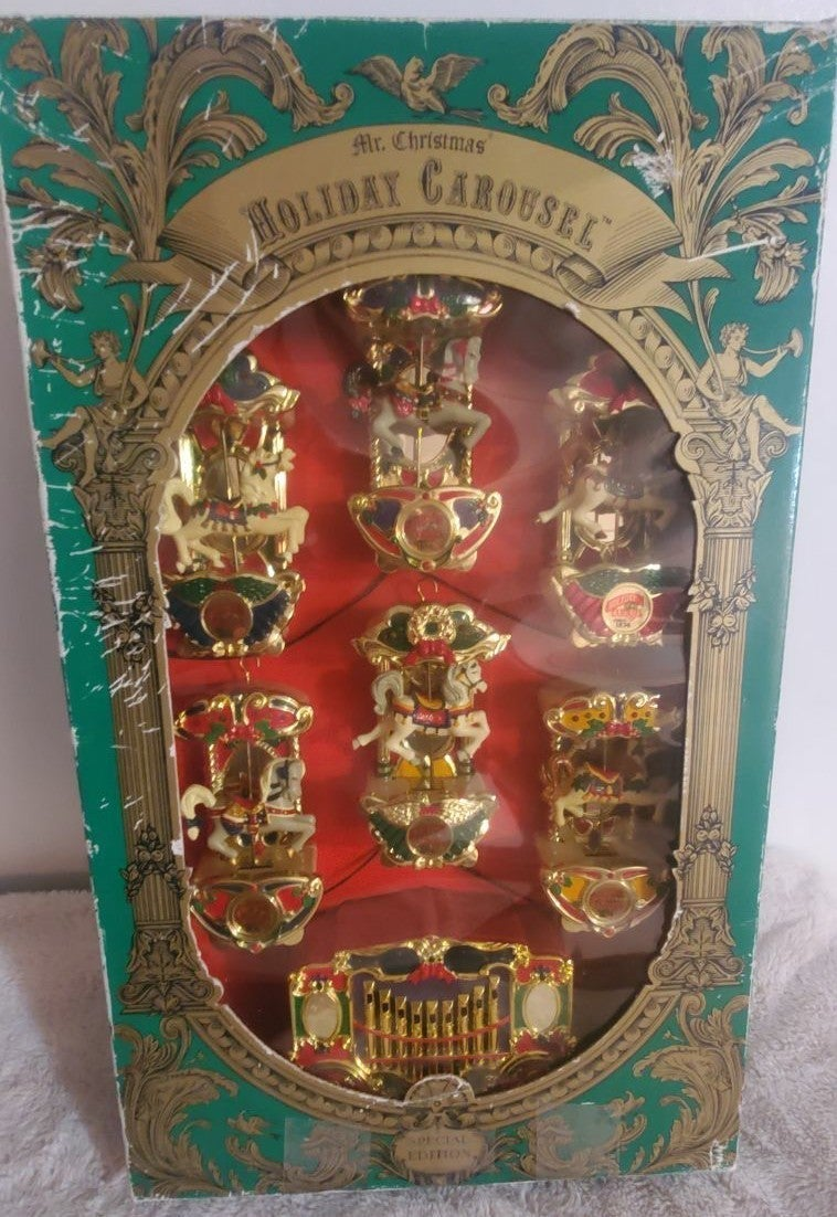 Vintage Mr. Christmas Holiday Carousel