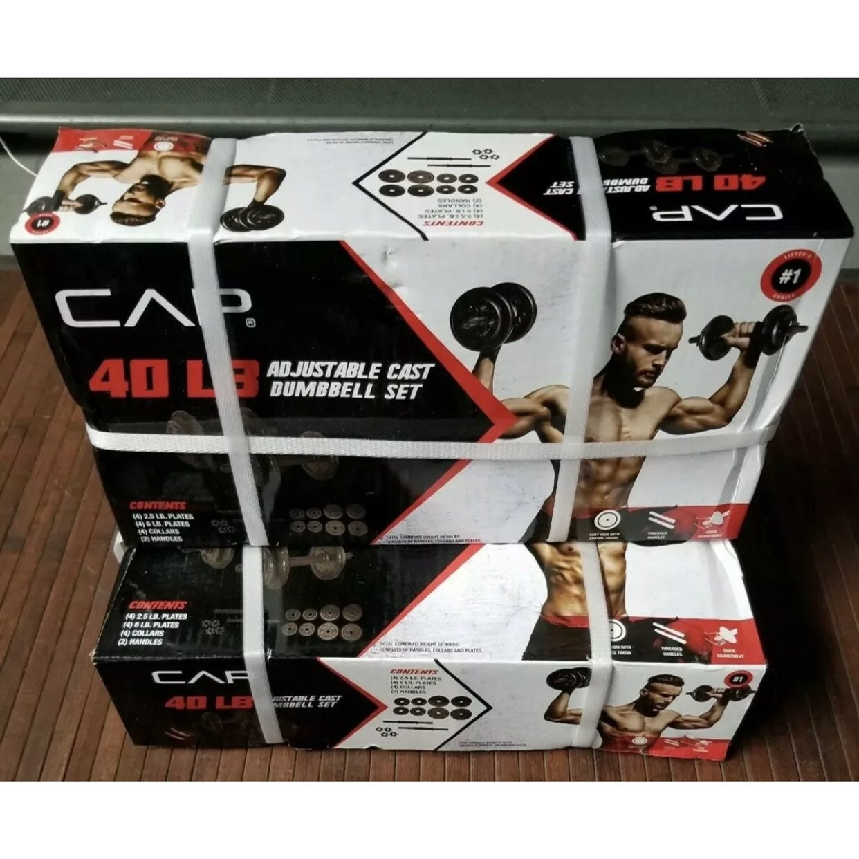 CAP 40 Lb Adjustable Dumbbell Weight Set
