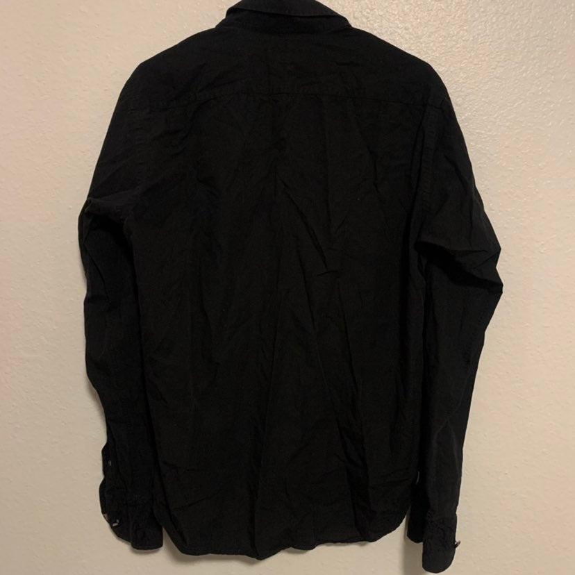 Ted Baker Black Button Down Shirt Sz 4