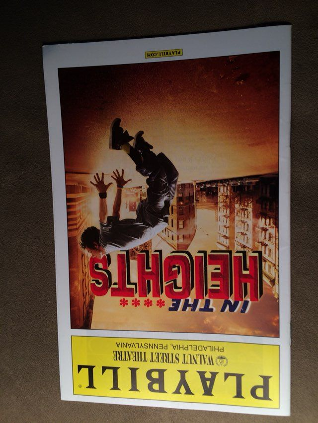 Playbill In The Heights