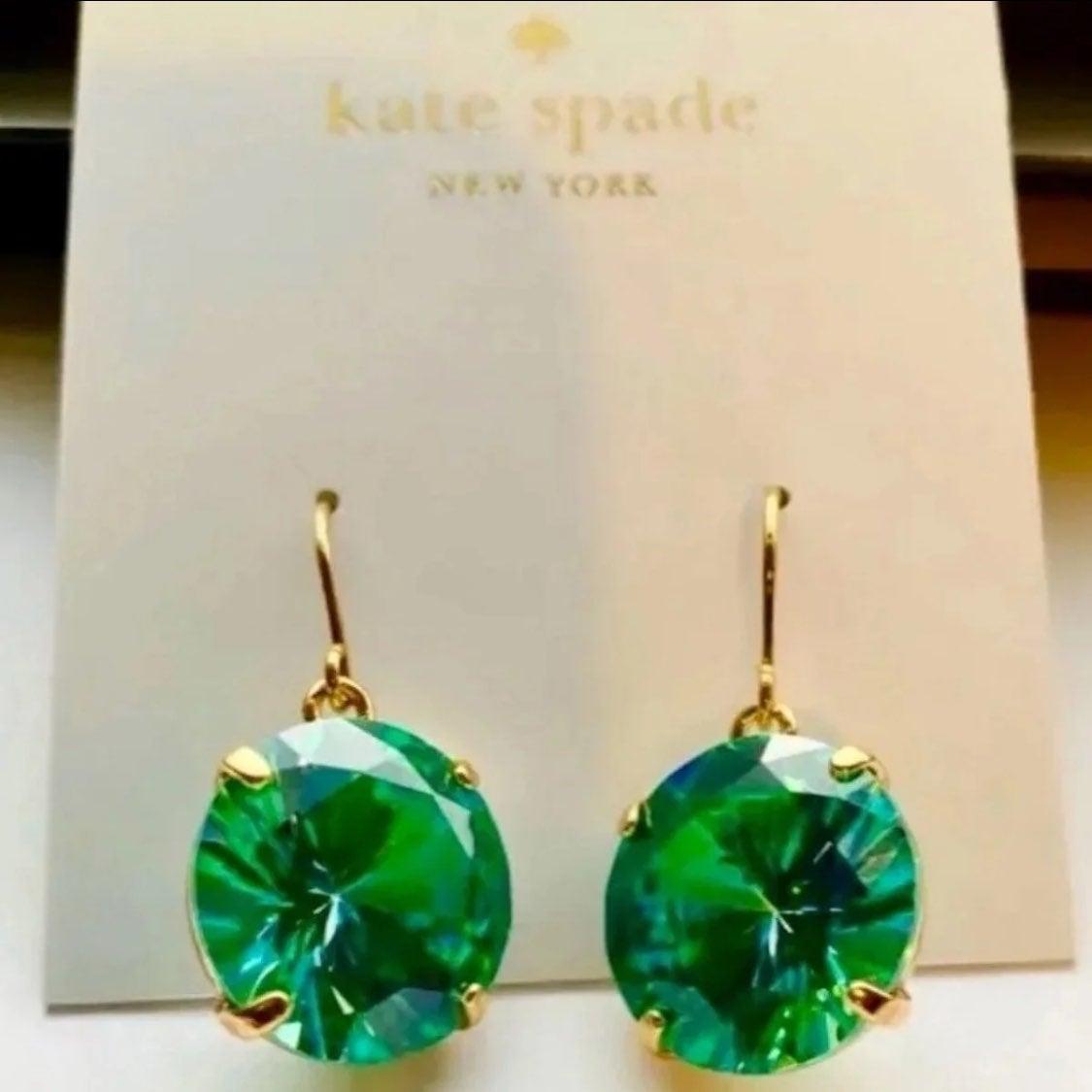 Kate Spade dk green 'shine on' earrings
