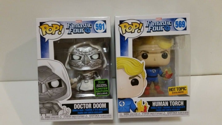Dr Doom #591 ECCC & Human Torch #569 Lot