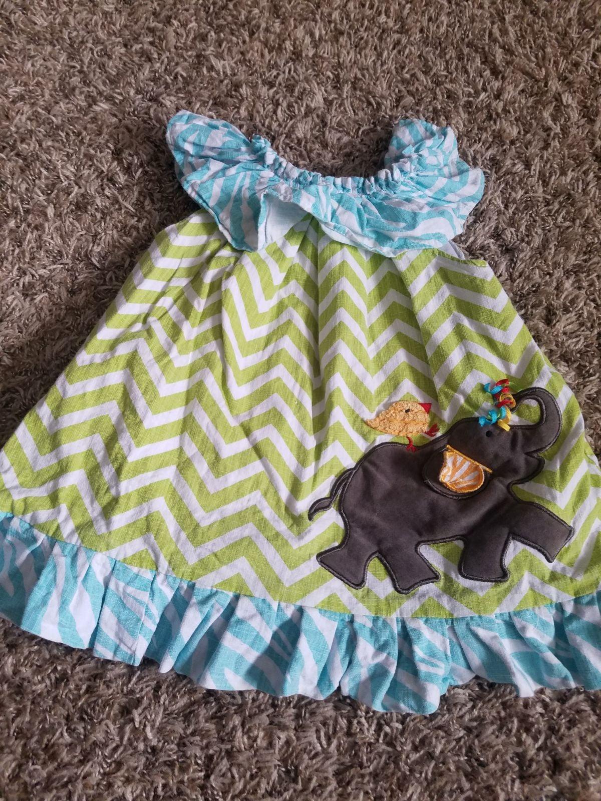 Mud Pie Boutique elephant dress size 12-