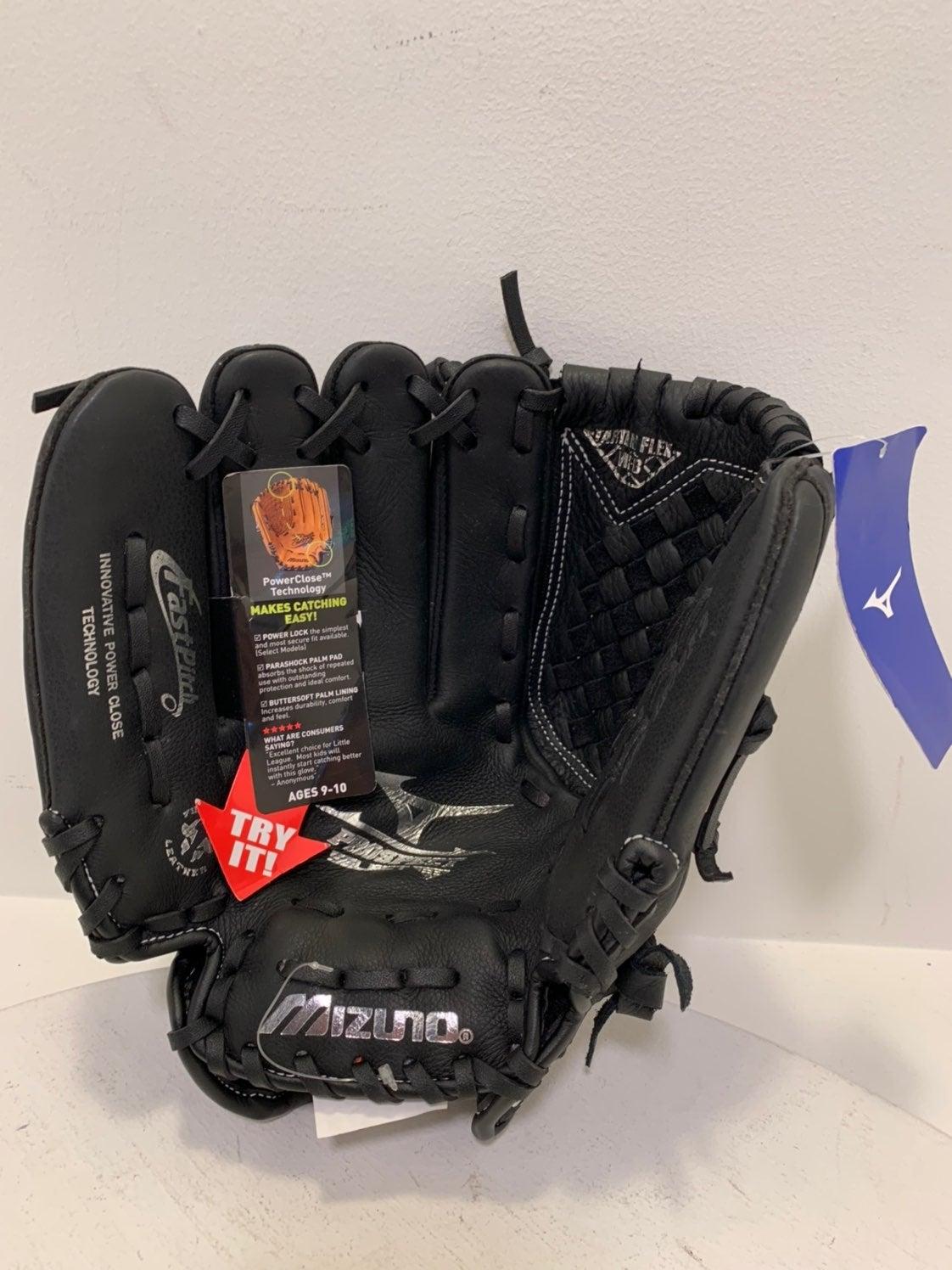 mizuno baseball black leather glove NEW