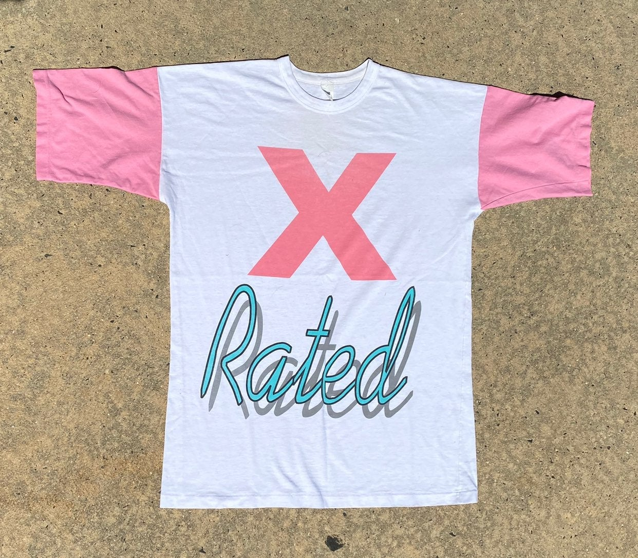 """Vintage 90s  """"X Rated"""" Shirt"""