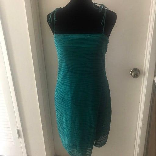 NWT~Dolls Kill Motel Emerald Green Zebra Print Mini Dress Sz XL