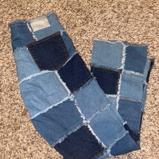 Crest patchwork Jeans