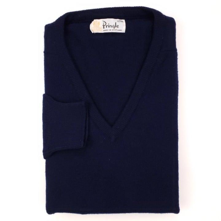 Pringle Scotland Sweater 46 Navy Blue V