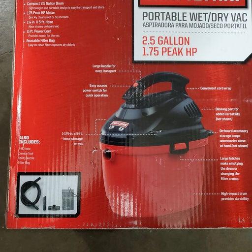 Craftsman , Wet/Dry Vacuum 2.5 Gallon