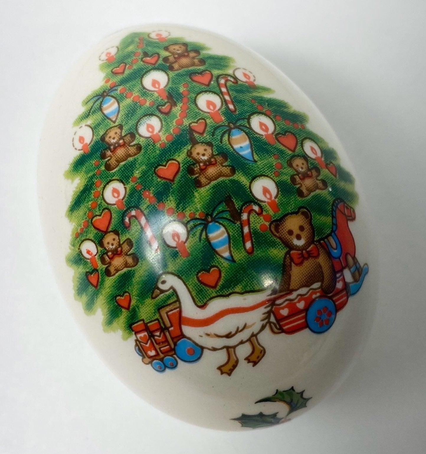 The Egg Lady Porcelain Christmas Egg