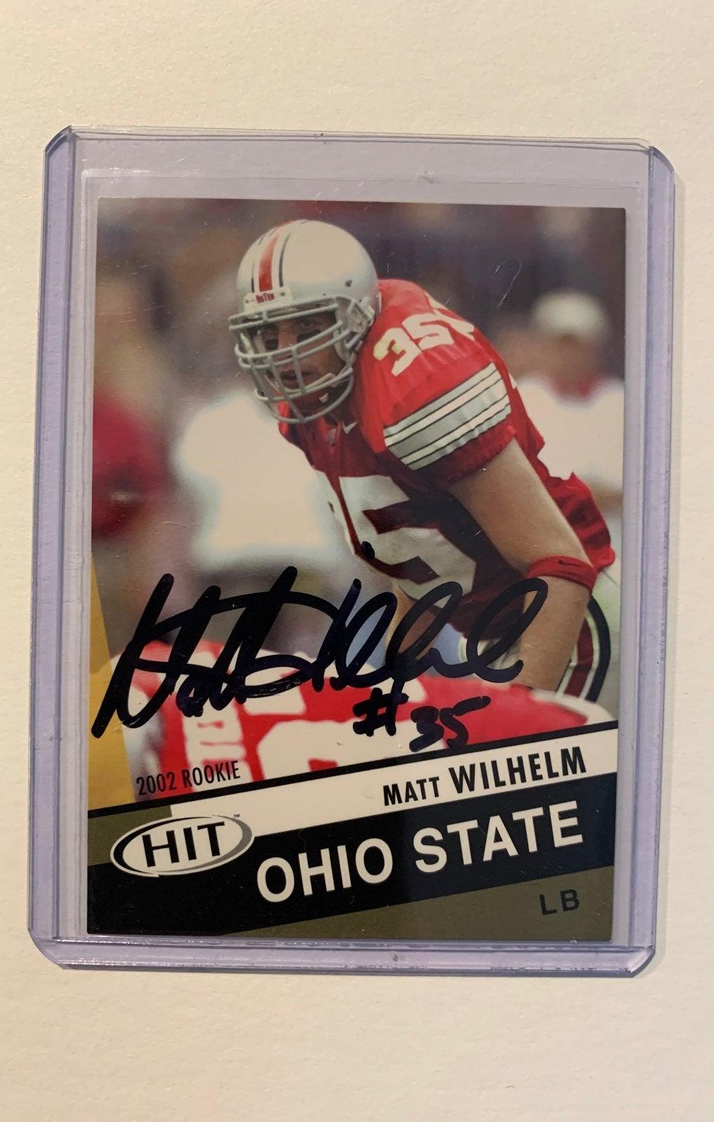 Matt Wilhelm Ohio State signed card
