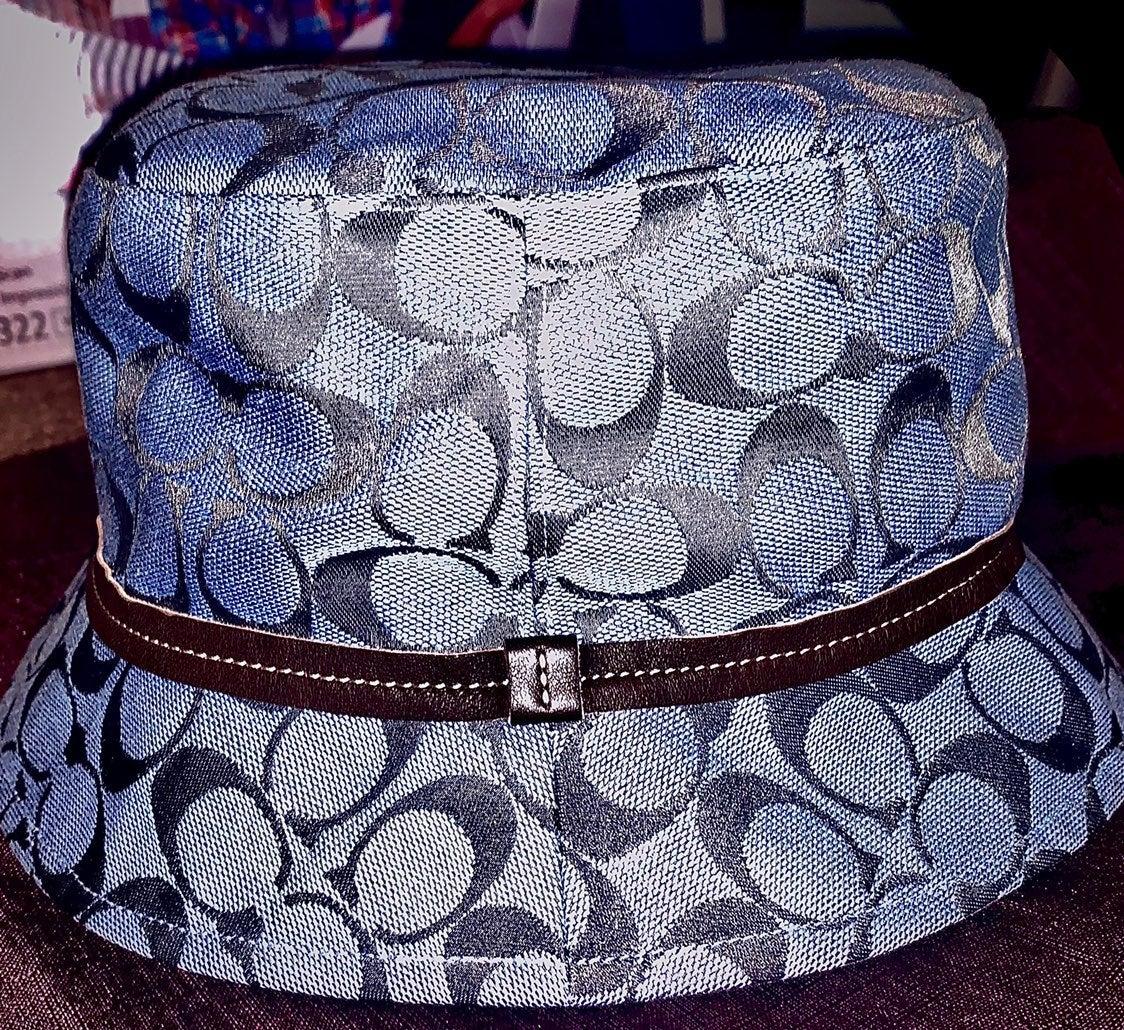 Authentic Blue Coach Logo Bucket Hat