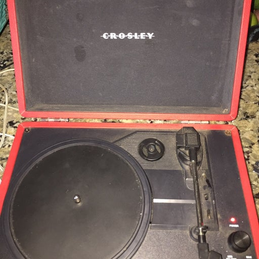 Vintage Crosley Red Record Player Workin