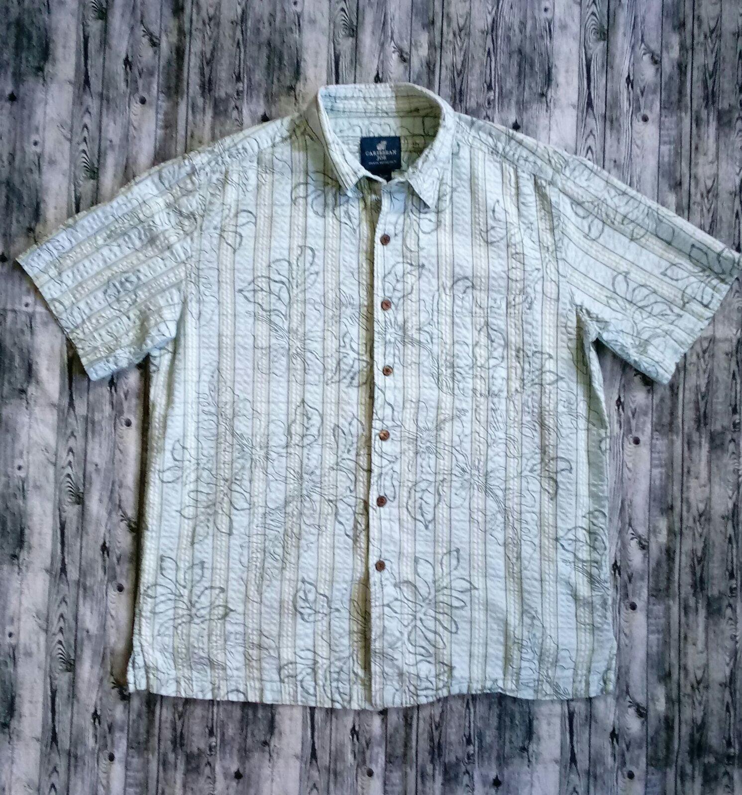 Caribbean Joe Hawaiian Button Down Shirt