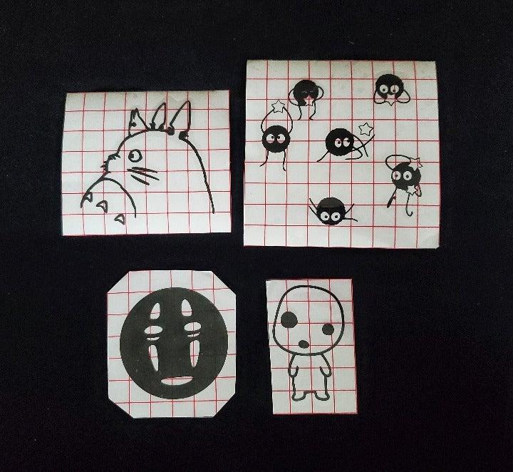 Studio Ghibli Outline Decals (4)