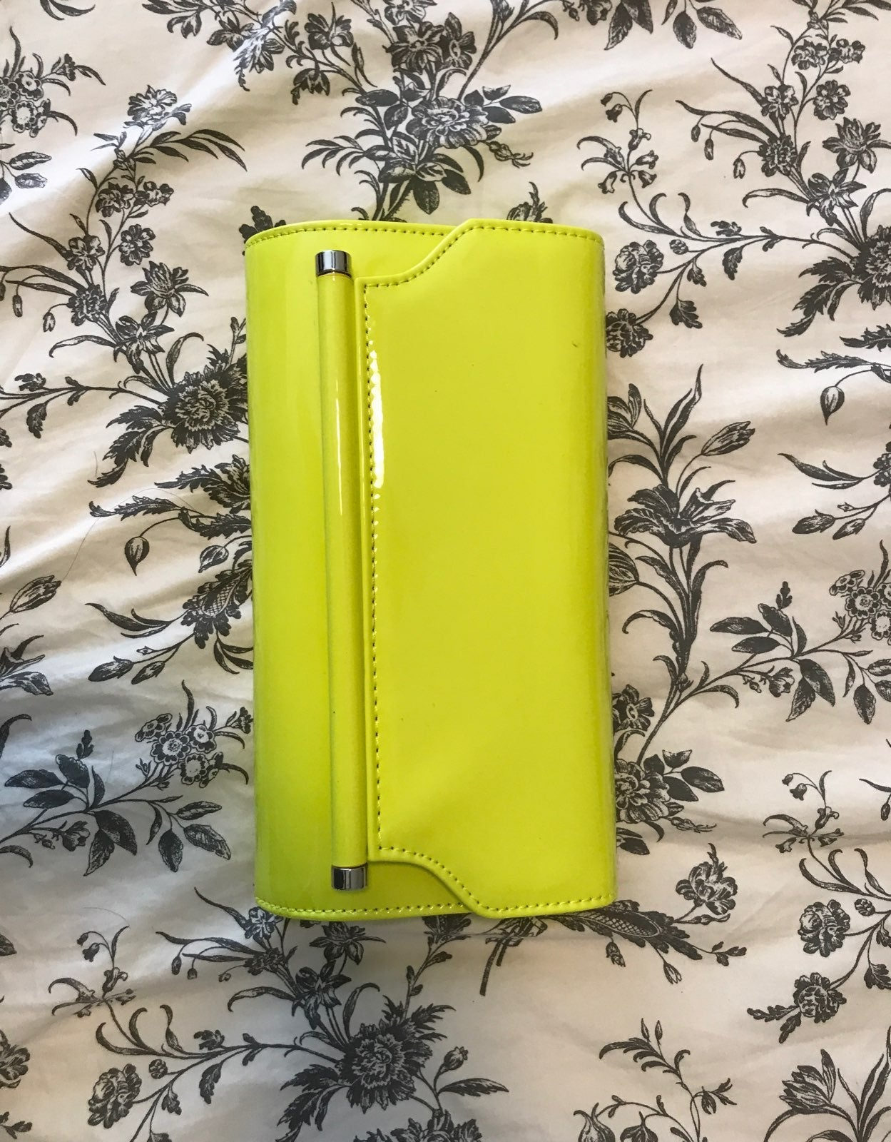 Neon Yellow/Green clutch with optional m