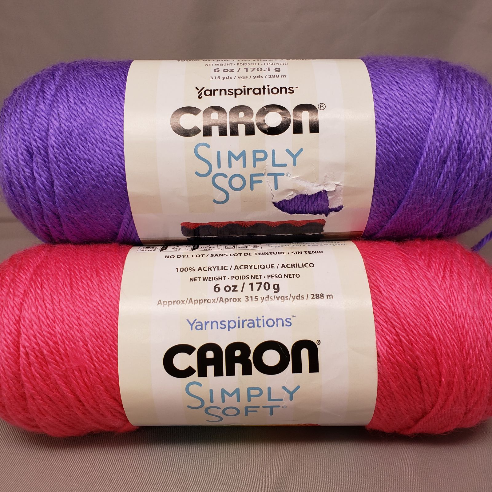 lot of 3 simply soft pink/purple