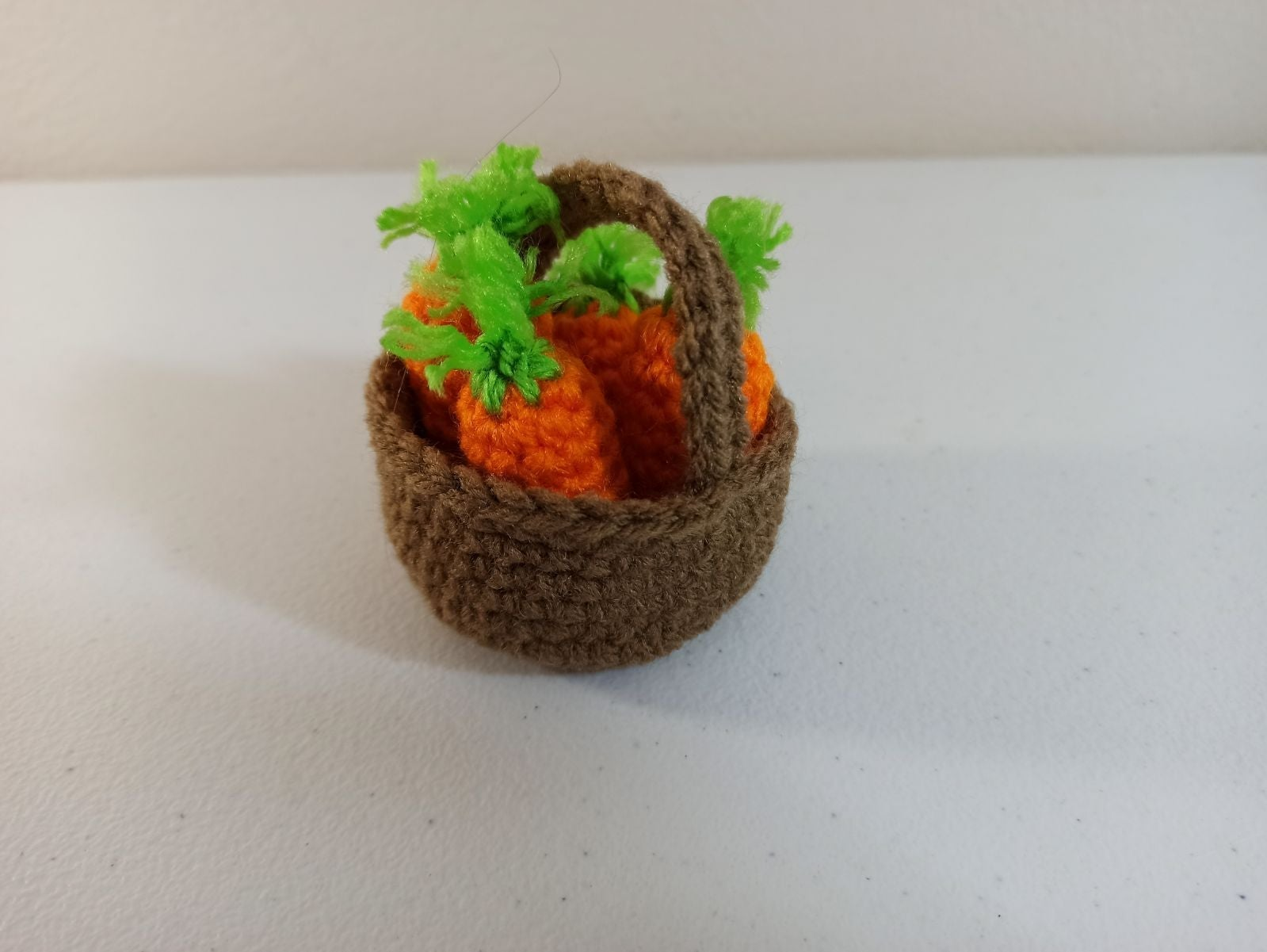 Mini Crochet Carrots with Easter Basket