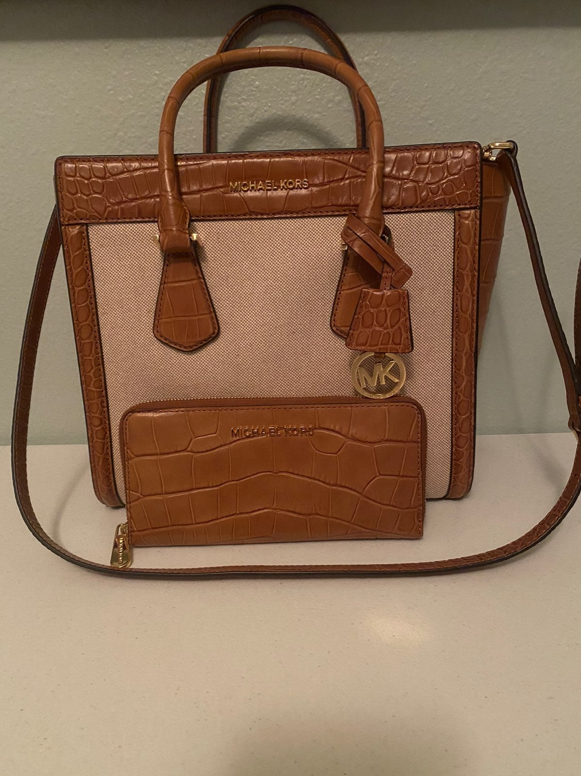 Michael Kors Crocodile Set Like New!