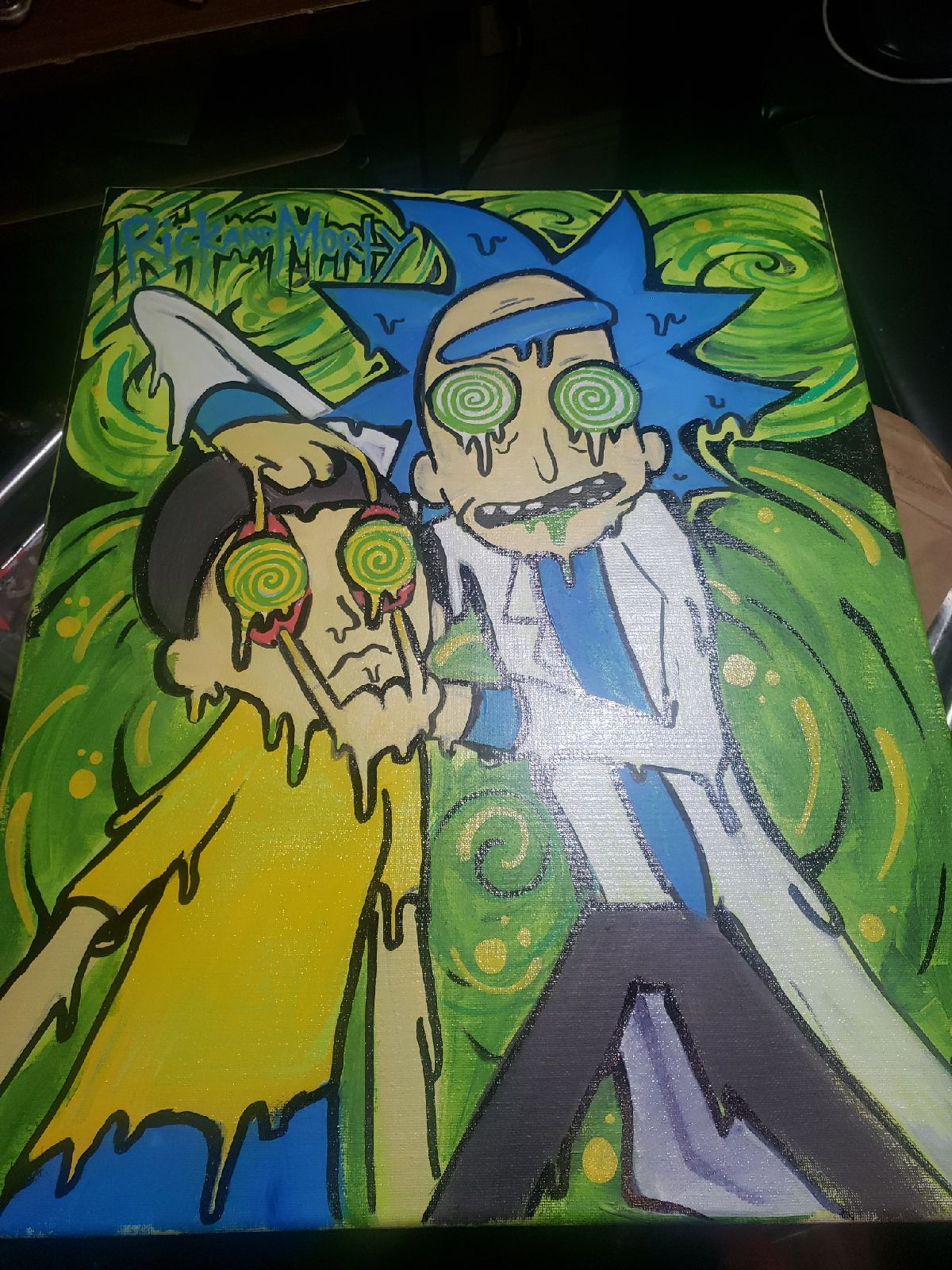 rick and morty canvas