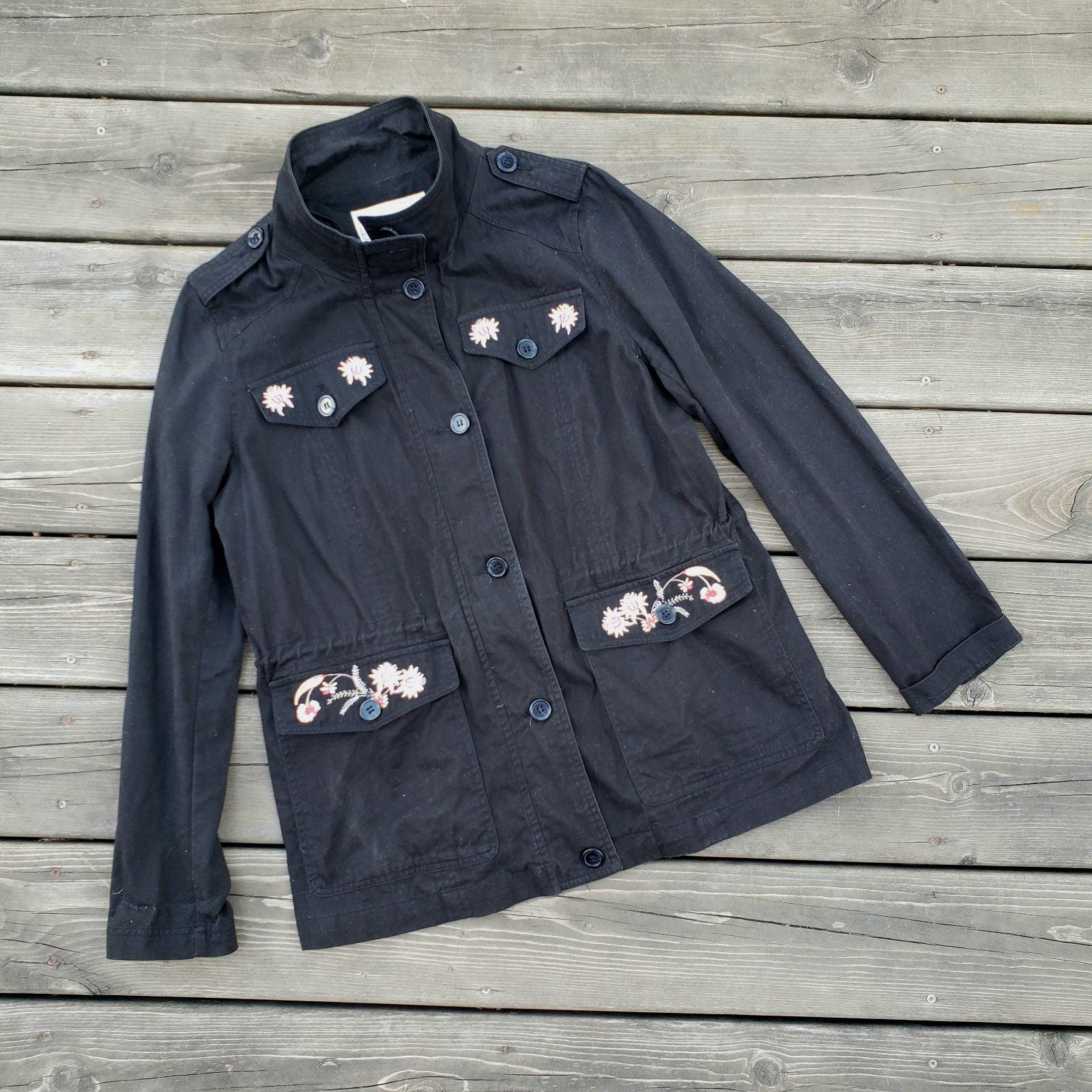 Anthropologie | Embroidered Cargo Jacket