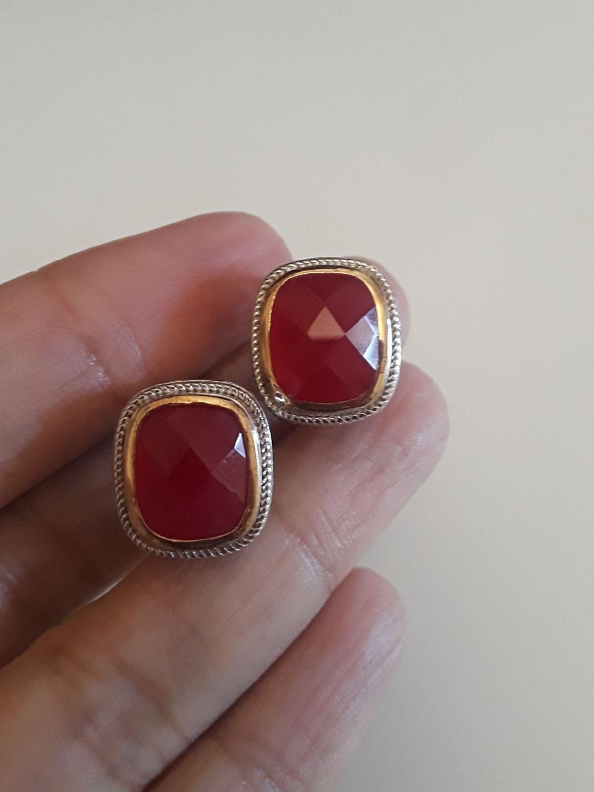 Ruby Silver 14k earrings