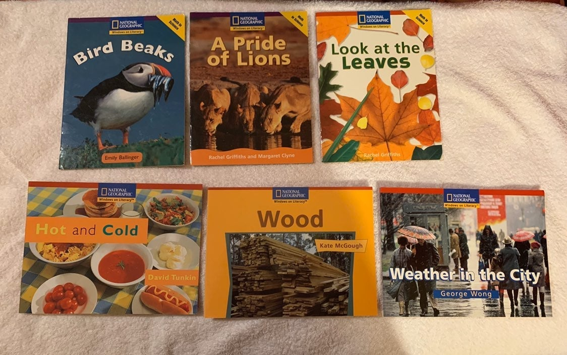 Lot of 6 national geographic kids books