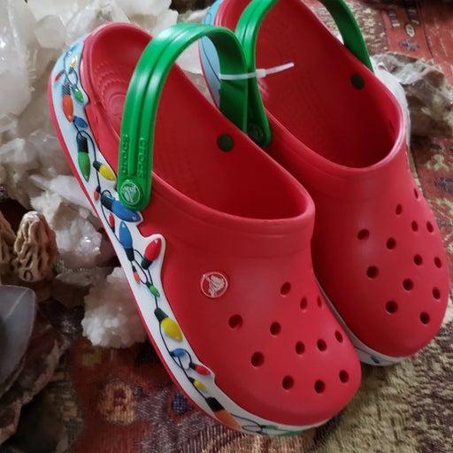 Christmas Crocs his or her