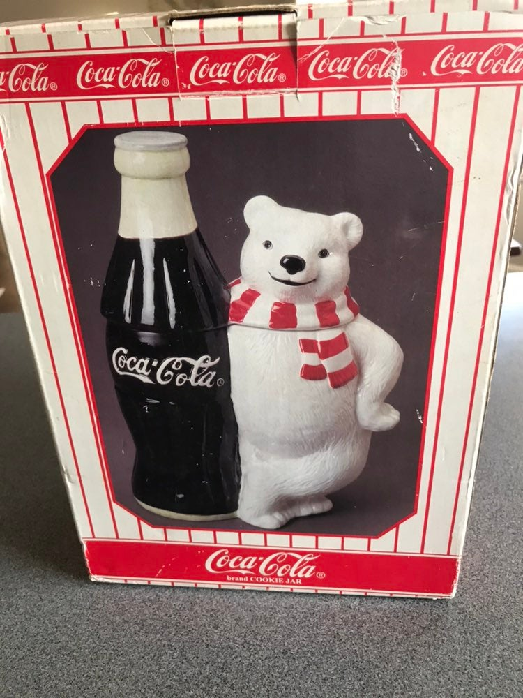 VTG 1998 Coca Cola Polar Bear Cookie Jar