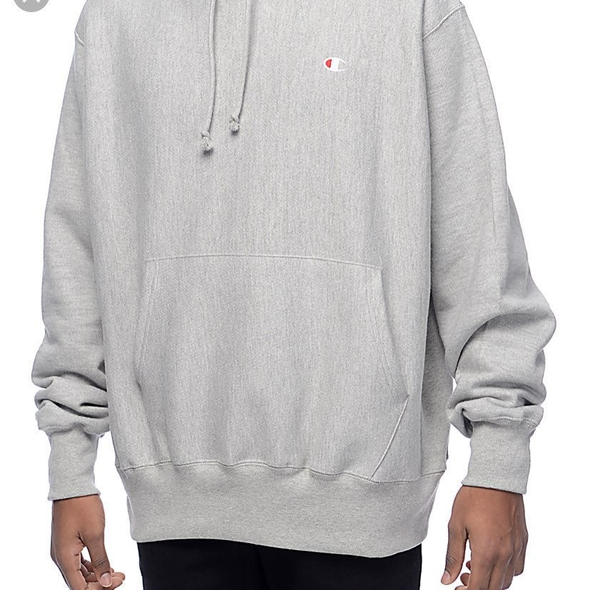 Grey champion hoodie