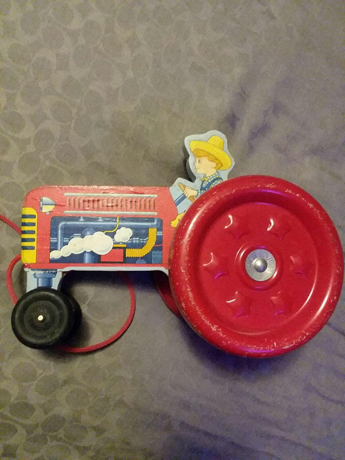 Pull Toy Antique Repro