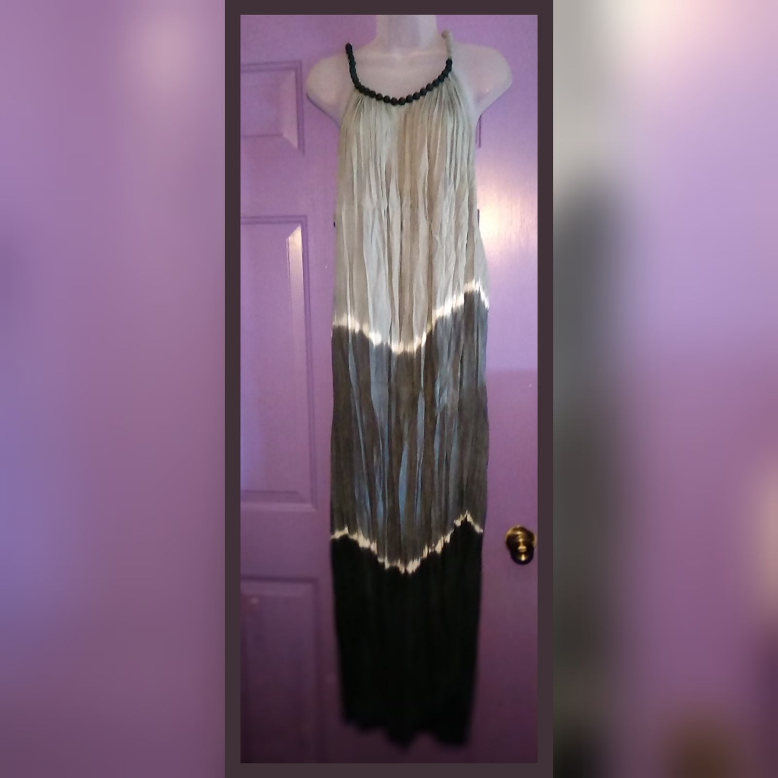 NWOT TIE DYED OMBRE RAYON MAXI DRESS-OS