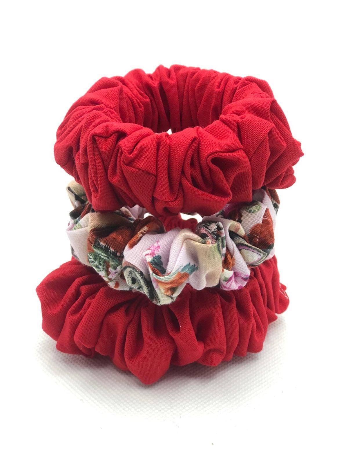 valentines scrunchie (set of 3)
